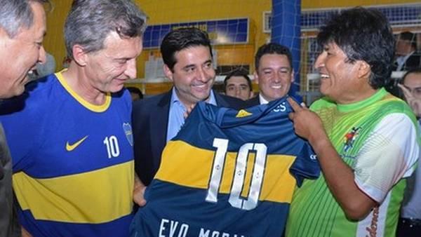 Macri-Angelici-Evo-Morales_CLARIN