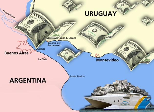 efecto del blanqueo argentino en Uruguay