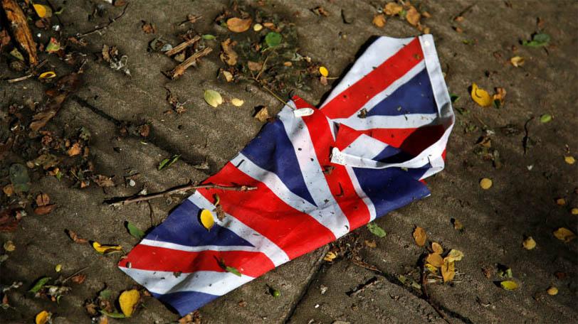 Bandera en el suelo del Reino Unido (Reuters)