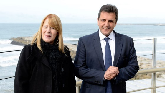 Sergio Massa y Margarita Stolbizer en Mar del Plata