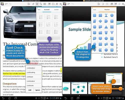 Edición de documentos de Office en una tablet