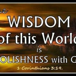 The foolishness of man before God