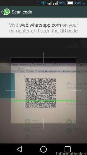 Scan whatsapp qr code from mobile to mobile