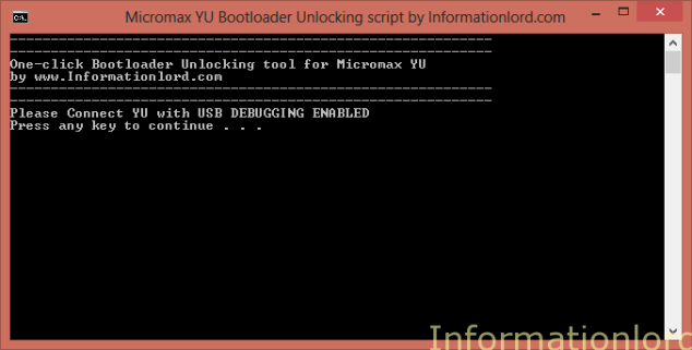 micromax yu unlock bootloader script