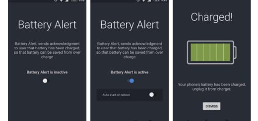 Battery Alert Smartphone App