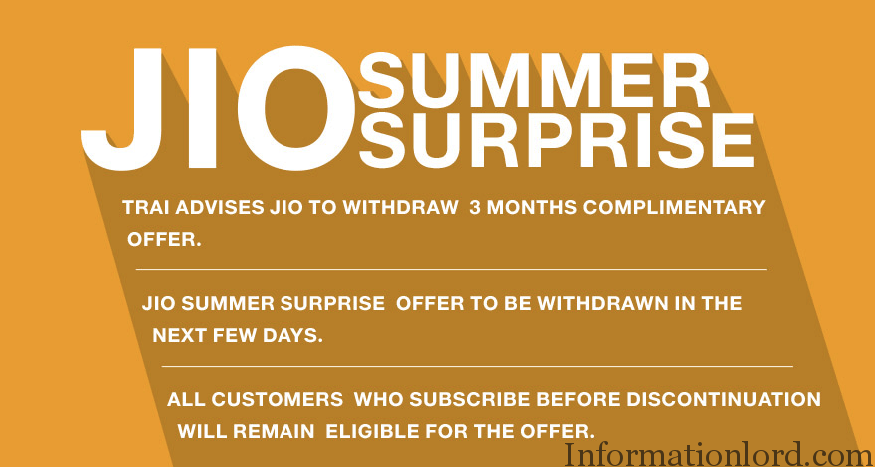 Jio Summer Surprise Offer Getting Cancelled