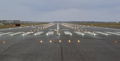 Typical Runway Light Of An Airport