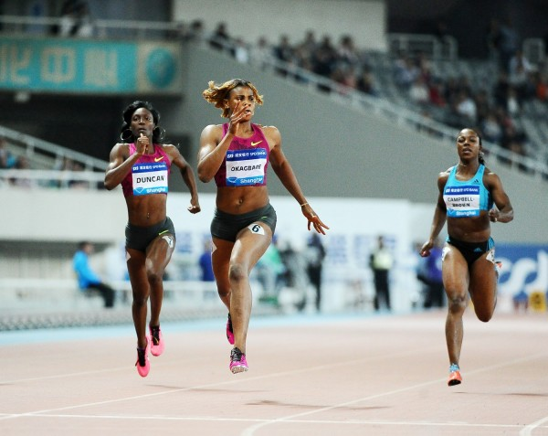 Blessing Okagbare Broke the 200m Record at the Shanghai Diamond League Meeting in May.