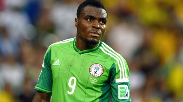 Emmanuel Emenike Was Not Listed In Nigeria Team for Afcon Qualifier against Chad. Image: Getty.