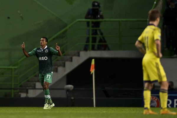 Louis Nani Has Now Scored Four Champions League Goals for Sporting This Season. Image: Getty.