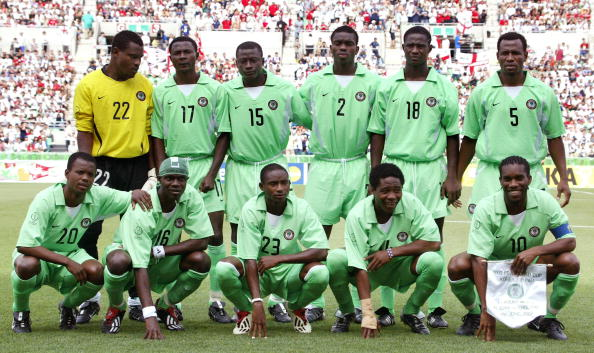 Vincent Enyeama During a Group Photograph at the 2002 Fifa World Cup in Osaka, Japan, Ahead of the Super Eagles Final Group Game against England. Enyeama is One Cap Shy of a Super Eagles Century. Image:KAZUHIRO NOGI/AFP/Getty.