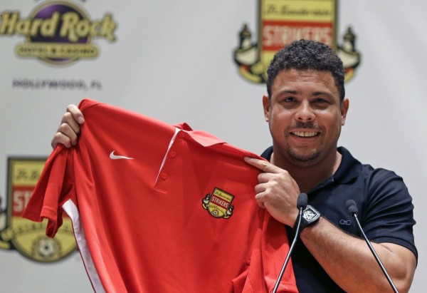 Ronaldo Became a Minority Stakes Owner With Fort Lauderdale Strikers. Image: Today Sport.