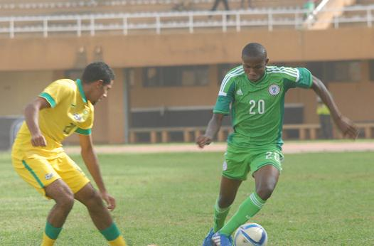 Golden Eaglets' Chukwueze Samuel During a 1-0 Defeat By South Africa at the 2015 Caf U-17 Championship. Image: Caf via BackPagePix.
