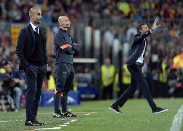 Pep Guardiola Looked Dejected on the Touchline after Lionel Messi Magic. Image: Getty/AFP.