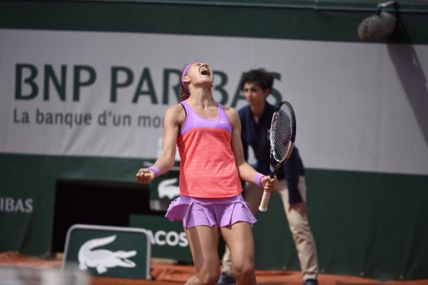 Lucie Safarova Through to French Open Final. Image: RG via Getty.