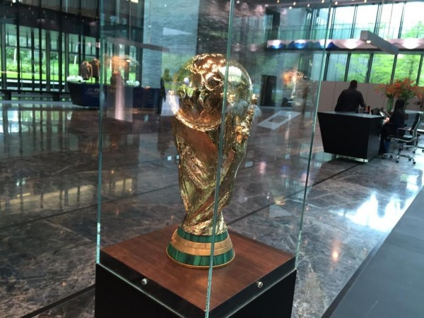 The FIFA World Cup Shielded Within the Premise of the FIFA Headquarter in Zurich. Image.