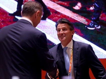Sebastian Coe Elected as the Sixth IAAF President at the 50th Congress of Athletics' Governing Body. Image: Getty.