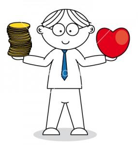 man-choosing-between-love-and-money-vector-992619