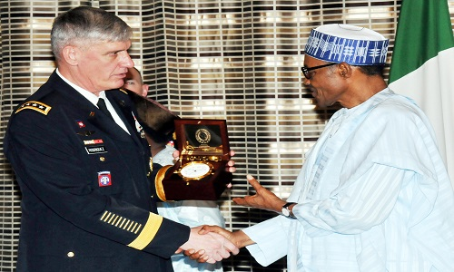 PIC 1. VISIT OF THE US AFRICOM GEN RODRIGUEZ