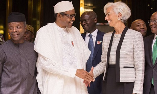 IMF-Christine Lagarde-Buhari