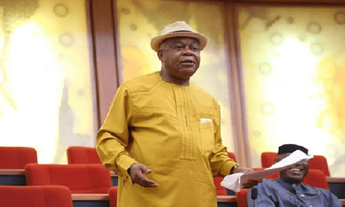 Nigerians react as Son of former Abia state governor, and serving senator, Theodore Orji becomes Speaker of State Assembly
