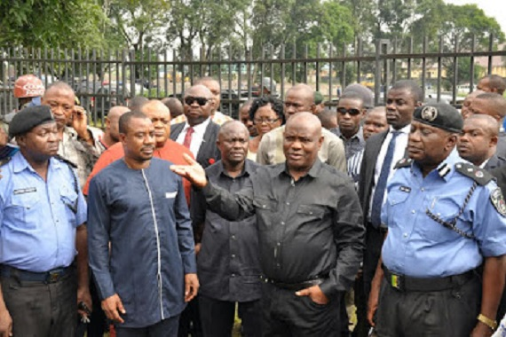 Nyesom Wike-Bombed INEC office