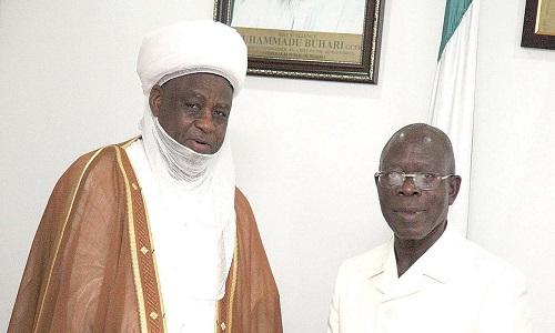 Adams Oshiomhole and Sultan of Sokoto