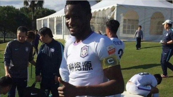 Mikel Scores First Goal in Tianjin Teda Win