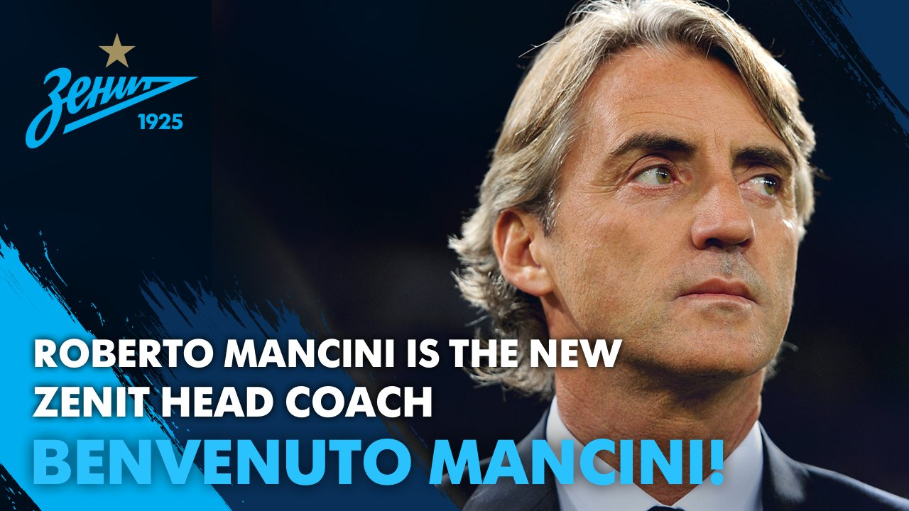 Mancini named manager of Zenit St. Petersburg