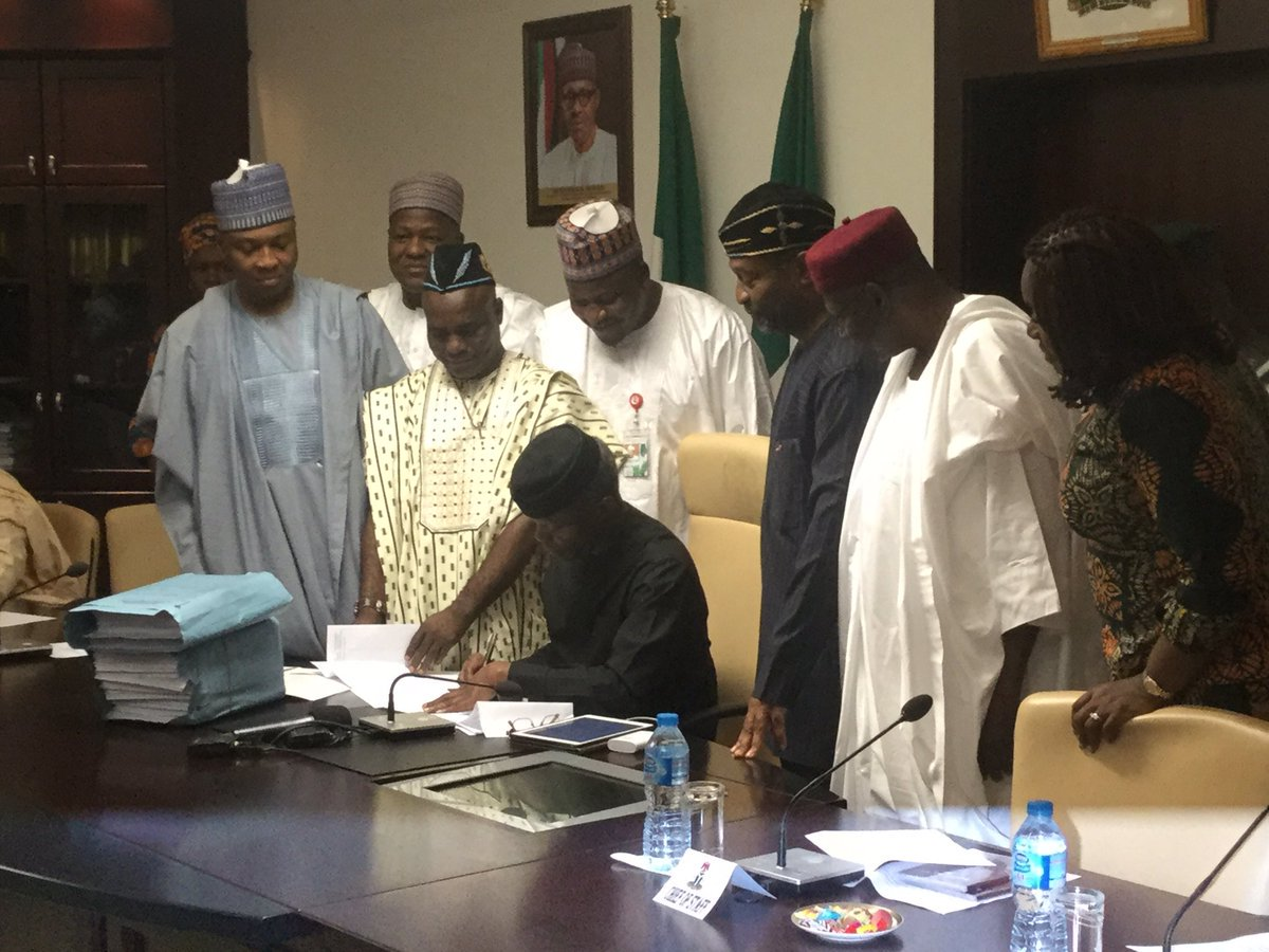 Osinbajo set to sign 2017 Budget