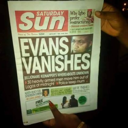 BREAKING: Evans Disappears From Police Custody