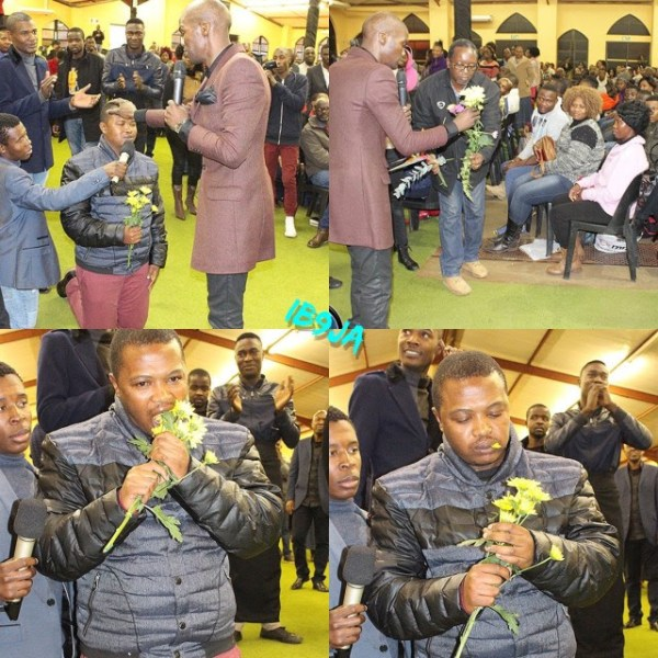 Image result for Popular Pastor Forces His Church Members to Eat Flowers (Photos)