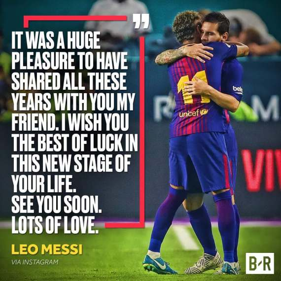 Messi's Emotional of neymar