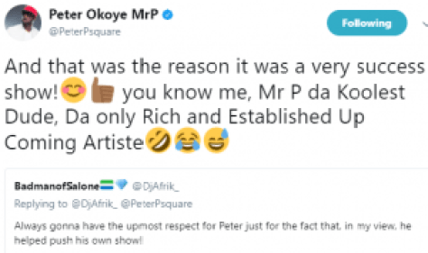 Peter 300x178 - This Is What Peter Okoye Now Calls Himself After Feud With Brothers