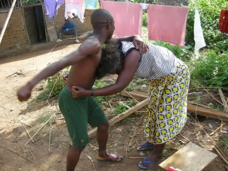File photo of couple fightong