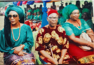 gv 300x207 - Genevieve Nnaji pictured With Dad and mom In Imo State (Photographs)