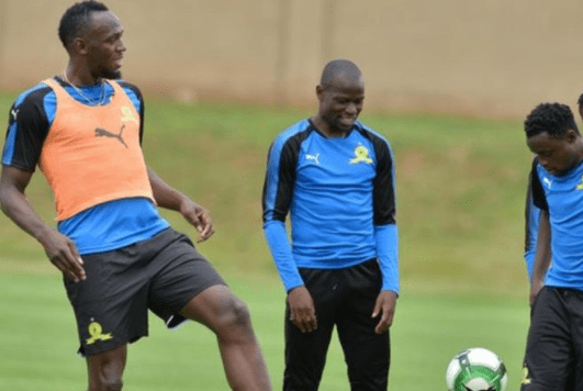EXTRA TIME: Watch Usain Bolt train with Mamelodi Sundowns
