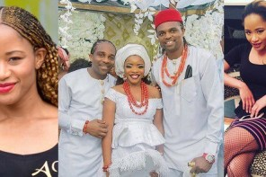 Image result for Oloshi, Oloriburuku, Borrow Pose: Kanu Nwakwo's Wife, Amara Attacks Laura Ikeji's Husband Ogbonna