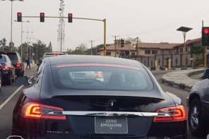 Electric Tesla Model S Spotted In Abuja, Nigeria (Photos)