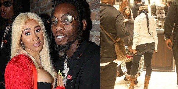 cardi b offset toronto - Offset Bends To Tie His Fiancee, Cardi B's Shoe Laces.