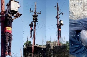 Thief electrocuted while trying to steal items from an electric pole in Jos