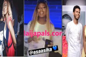 DJ Cuppy Vigorously Professes Her Love For Asa Asika By Singing a Song For Him (Video)