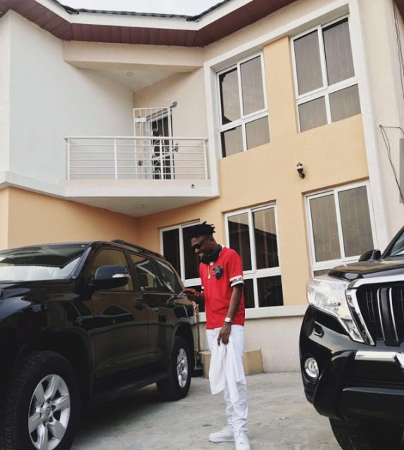 Mayorkun Cars and house picture