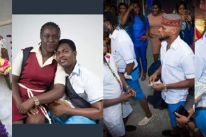 See What Friends Wore To The Wedding Of Couple Who Wore School Uniforms In Prewedding Photos