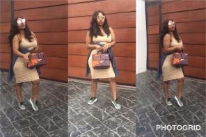 Actress Halima Abubakar Suffers Wardrobe Malfunction As She Steps Out Without Bra