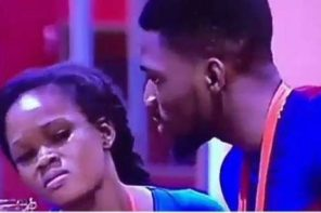 #BBNaija: Spot Cee-C's Face As Tobi Dances To His Favourite Song