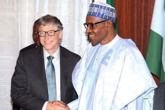 Bill Gates phones Buhari, says he's happy to be associated with him