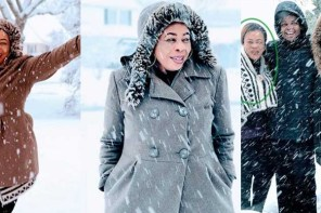 Like Adekunle Gold, Toyin Adewale poses in the snow in New York (Photos)