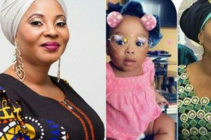 Late Moji Olaiya's daughter turns one year. (photo)