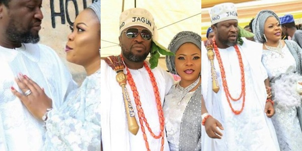 Nollywood Actor, Femi Branch marries third wife in style (Photos)